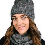 Зимняя теплая шапка на флисе для девочки и взрослого сп