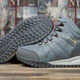 Зимние кроссовки на меху, темно-серые Код 30982