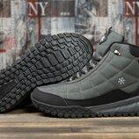 Зимние кроссовки на меху, темно-серые Код 30973