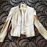 Кожаный пиджак куртка р.XS