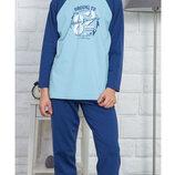 Тёплые пижамы для мальчиков на 9-10,13-14 лет байка