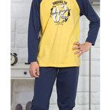 Тёплые пижамы для мальчиков на 9-10, 13-14 лет байка