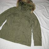 Куртка парка H&M Швеция размер М-L Зимняя.