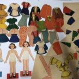 Лот.старинная бумажная коллекционная винтажная кукла винтаж редкость одень куклу ссср куколка одежда