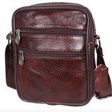 Маленькая мужская сумка для телефона и мелочей натуральная кожа