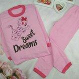 Пижама Пижамка теплая с начесом на баечке начес Хлопок 92-98-104-110-116-122-128-134-140