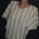 Кофта S, кофта травка, свитер травка, женская теплая кофта, нарядный свитер, свитер, кофта
