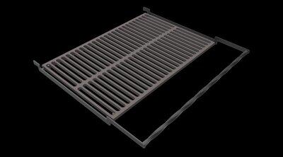 Чугунная решетка гриль bbq grill для мангала и барбекю 78.3х48.4 см.