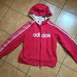 Adidas оригинал спортивная кофта капюшонка худи р S