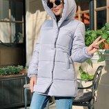 Модная и стильная куртка Зефирка, матовая плотная плащевка, очень тёплые. 42, 44, 46 рр