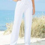 Суперовые брендовые трикотажные базовые белые теплые с начесом спортивные штаны Damart.