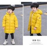 Зимнее пальто желтое 3638