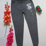 Суперовые флисовые мягкие спортивные штаны серый меланж Гарри Поттер Хогвартс.
