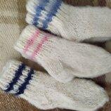 Носки вязаные шерсть собачья