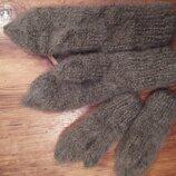 Варежки.рукавички вязаные пуховые