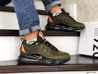 Мужские кроссовки термо Nike Air MX 720-818 темно зеленые