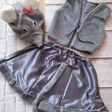 Карнавальный костюм мышка, медведь волк, зайчик, мишка белый, ежик