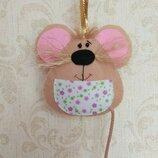 Мышка, крыса символ года Hend meid ручная работа