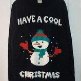 Новогодний свитер. Снеговик.