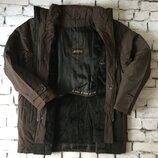 Коричневая курточка мужское пальто зима двойной подклад