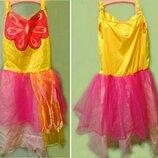 Праздничное платье Бабочка, девочке 6-7лет, нюанс