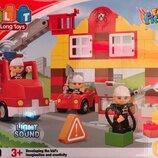 Конструктор JDLT 5153 Пожарная станция, аналог Lego Duplo, 69 деталей