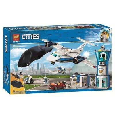 Конструктор для мальчика Bela 11210 Воздушная полиция авиабаза на 559 деталей