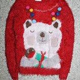 Джемпер свитшот травка свитер новогодний