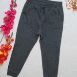 Шикарные трикотажные теплые на плюше спортивные штаны серый меланж высокая посадка UniQlo