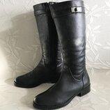 Сапоги кожаные натуральные жокейские трубы черные высокие купить цена