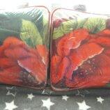 Покривало.зелене з розами.нове .150-200 см