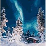 Картина по номерам. Brushme Полярное сияние в лесу GX26245