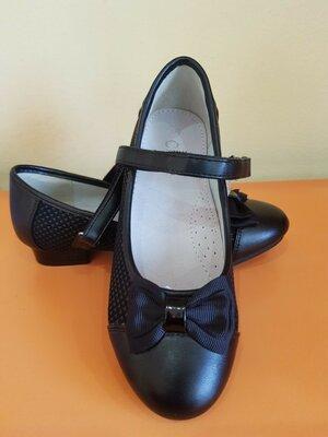 Черные туфли для девочки Clibee 27,28,32