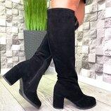 Распродажа остатков Женские сапоги на устойчивом каблуке 7 см