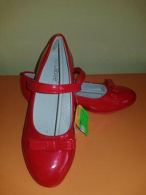 Красные лаковые туфли Clibee 33-36р.