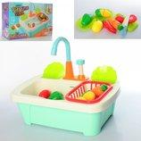 Кухня 86E раковина-ллється вода насос-механ , продукти на липучці , посуд, кор.,41-27-14см