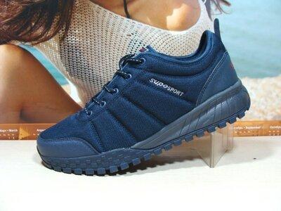 Термо кроссовки -Supo Waterproof синий 41р-46р