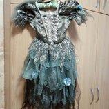 Платье карнавальное хэллоуин Hellowin мертвая невеста TU 5-6 лет р.110-116 обруч