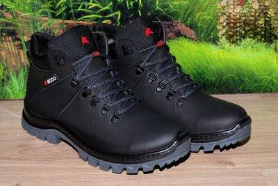 Ботинки зимние прошиты кожа натуральная М1 качество ecco размеры 46 47