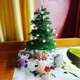 Новый год сувенирчики из бисера