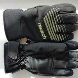 Горнолыжные перчатки Reusch Sportif Softshell R-TEX XT черные с салатовыми полосками