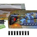 Танк на радіокеруванні акумулятор , музичний зі світлом, в коробці 899-6 р.27 12,5 10,5см.