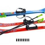 Лыжи с палками беговые Re flex, 90см детские пластиковые, лижі 04625 Рефлекс