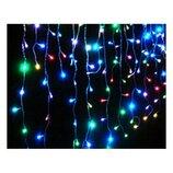 Гирлянда-Штора светодиодная 100 лампочек, провод 3 метра, длина веток 45 см, мультикол