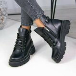 Ботинки зимние женские кожаные