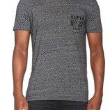 Мужская футболка серая меланж Super Dry M Premium