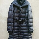Пуховик женский, черный пуховик, зимняя куртка United Colors of Benetton
