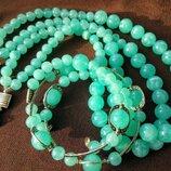 Комплект М ятний намисто, браслет, сережки . Торг