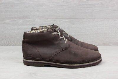 Мужские кожаные ботинки Caterpillar оригинал, размер 44 полуботинки CAT