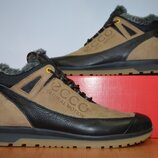 Зимние кожаные кроссовки Ecco.
